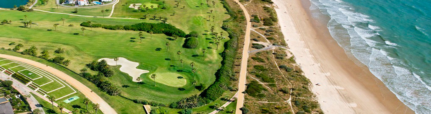 Aerial view of Costa Ballena Golf showing its proximity to the beach