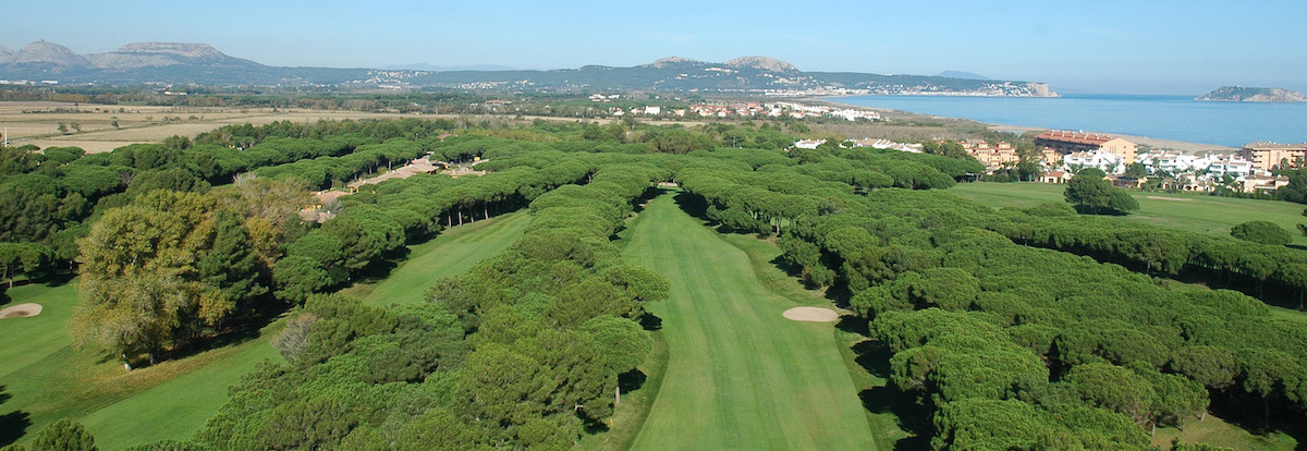 Aerial view of Golf de Pals to the Mediterranean