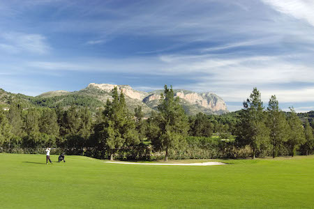 View to the mountains from La Sella Golf
