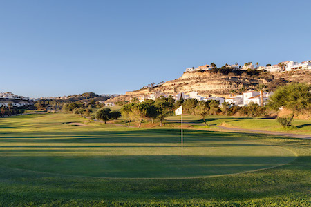The green on the 12th hole at La Marquesa Golf