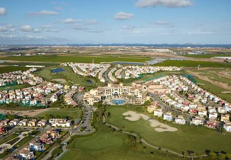 Aerial View of Mar Menor Golf Resort and Mar Menor Golf Course