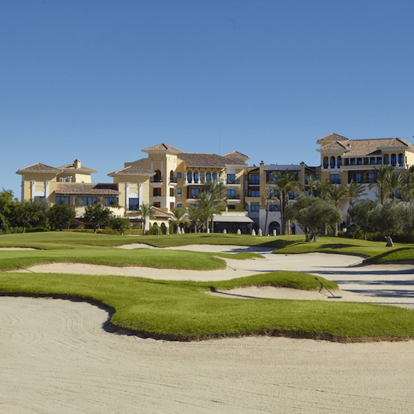 Mar Menor Residences with Mar Menor golf course in foreground