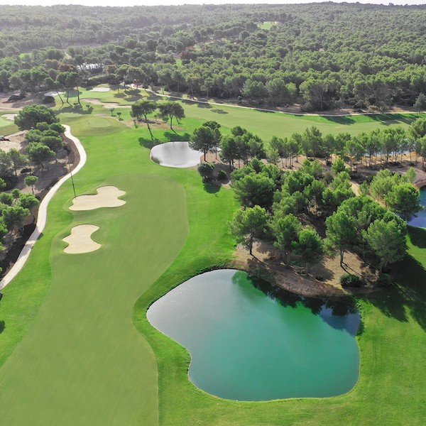 Lake affecting holes 3, 4 and 5 on T-Golf, Mallorca