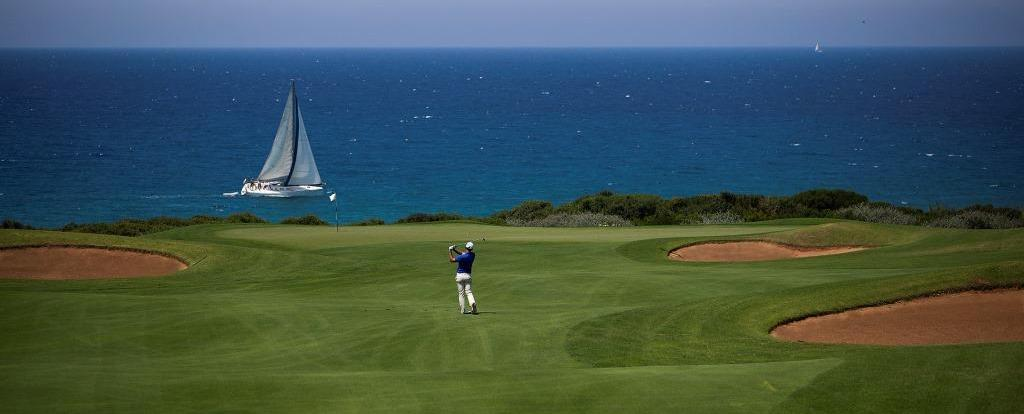 The Dunes Course offers beautiful views of the Mediterranean
