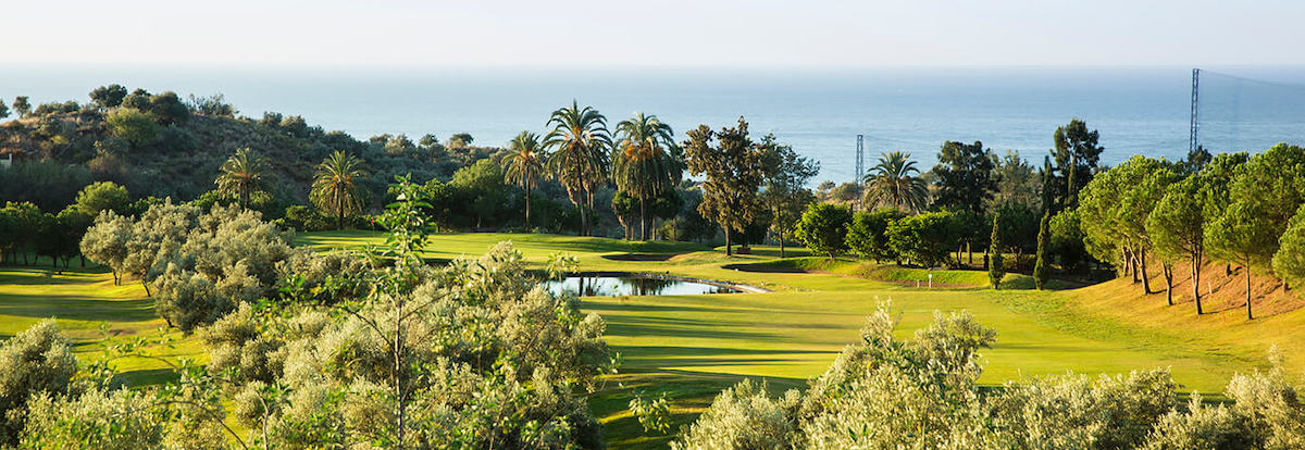 View to the Mediterranean from Añoreta Golf