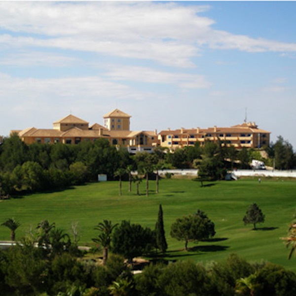 Campoamor Hotel with Campoamor golf course in foreground
