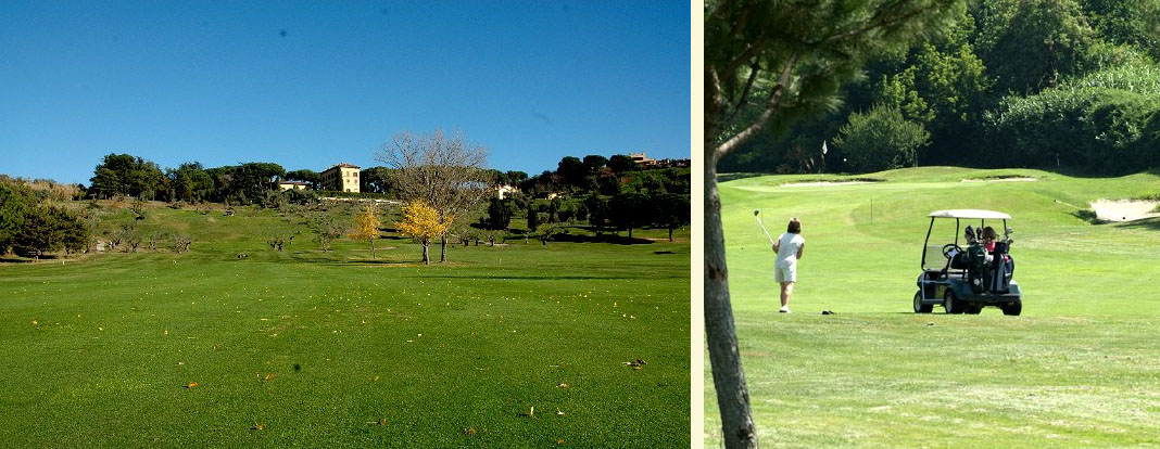 View to the hills at Castelgandolfo golf course