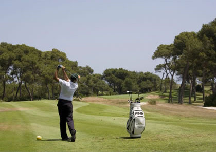 Tee shot on El Saler Golf Club