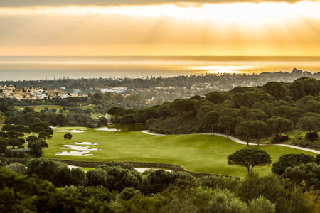 Sunset view to the Mediterranean from La Reserva Sotogrande Golf