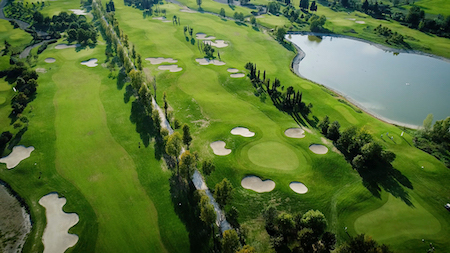 Aerial view of Le Pavionere Golf Club