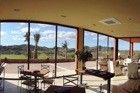 Panoramic views from the restaurant at Lorca Golf Course
