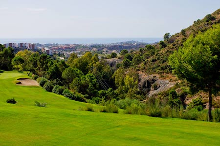 View to the Med from Los Arqueros Golf's 14th hole