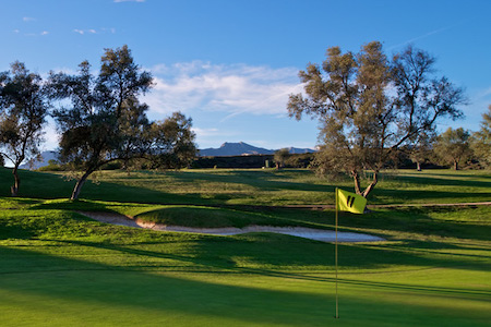 Lovely view from the 11th green on Marbella Golf & Country Club
