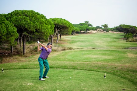 Tee shot on Oitavos Dune