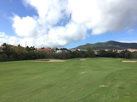 View to the mountains from Pestana Beloura Golf
