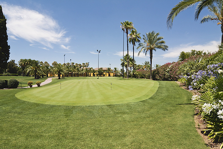 Putting green on Real Sevilla Golf