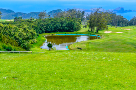 Water hole on Santo da Serra Golf
